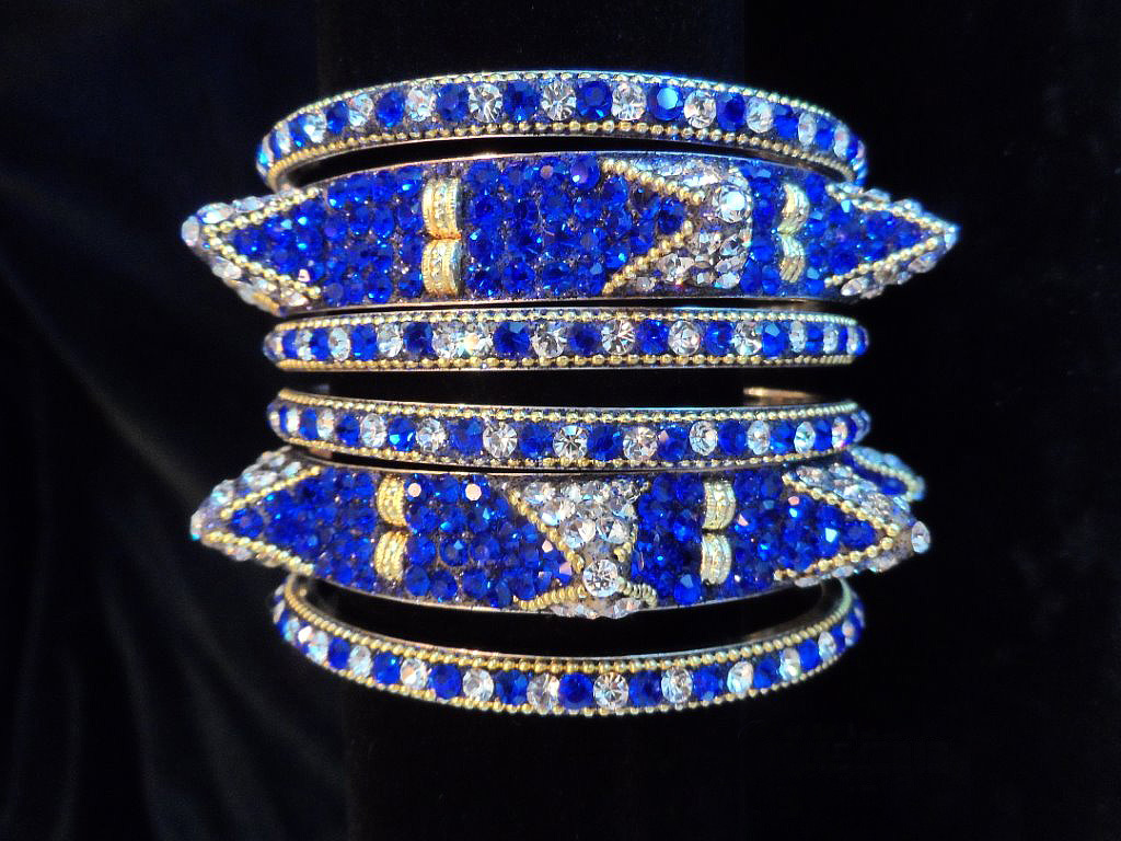 Beautiful Blue Bangles